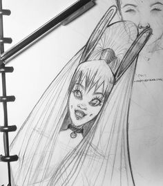 That was fun! #drawing #sketching #sketchbook #original #sketch #concept #girl #bunny #cute #collar #pet #ears #pretty #simple #pencil #art #creativemending #piercings