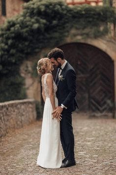 This wedding's muted color palette is an array of pastels and greys that conjure up a delicate and romantic atmosphere | Image by Melli & Shayne  #elegantwedding #wedding #weddinginspiration #weddinginspo #castlewedding #europeanwedding #bride #bridalinspiration #groom #groominspiration #coupleportrait #weddingportrait