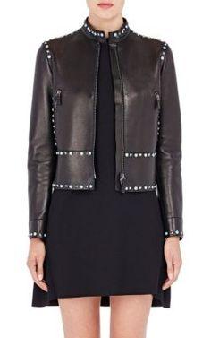 Valentino Studded Leather Moto Jacket at Barneys New York