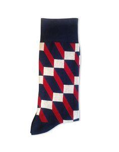 4D98 Lego Calza uomo geometrico - men socks geometric