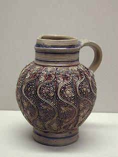 Jug -- 17th Century -- Germany -- Salt glazed stoneware -- The Metropolitan Museum of Art