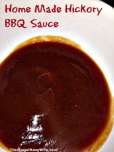 Homemade Hickory BBQ Sauce. I could never find a sauce i loved. This one is the perfect mixture of sweet and tangy with a smoky twist!