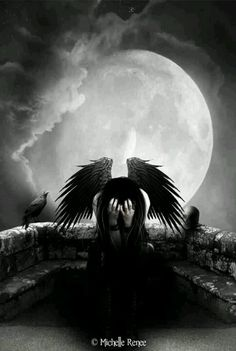 Dark fallen angel fantasy angels goth gothic