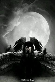 """""""I MISS YOU """" Dark fallen angel fantasy angels goth gothic"""