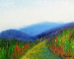 Mountain Vista by artist Daniel MacGregor, is a signed original oil painting on canvas.  It was painted to provide you the opportunity to enjoy this view everyday in your home or office. Created to add to the splendor of your home decor.  The perfect wall to hang it is where you can see it.  The palette knife creates texture on your one of a kind original fine art painting.  The quality oil paint allows for a lifetime of enjoyment.  Light on the wallet, a perfect buy for Christmas!