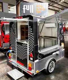 Mobile Cafe, Mobile Shop, Food Truck Design, Food Design, Cereal Cafe, Coffee Trailer, Mobile Food Trucks, Food Truck Business, Food Vans
