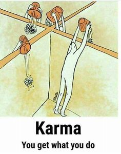 Karma is a conscious decision. They are good and bad Karma. Make the good choice always. Keep it positive! Reality Of Life, Reality Quotes, Life Quotes, Funny Karma Quotes, Qoutes, Pictures With Deep Meaning, Meaningful Pictures, Satirical Illustrations, Deep Art