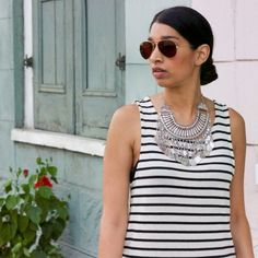 The perfect summer dress full of stripes!
