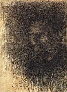 Ernest Joseph Laurent ~ Portrait of the Painter Georges Seurat, 1883