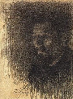 Ernest Joseph Laurent ~ Portrait of the Painter Georges Seurat, 1883