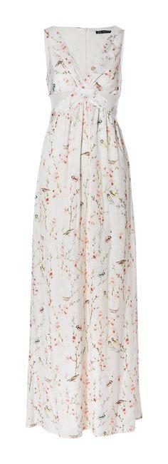 LONG CROSSOVER JAPANESE PRINT DRESS from Zara