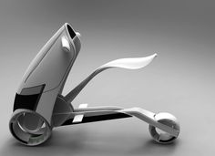 In response to growing urban environments, the Fuse electric scooter aims to provide quick, sleek transportation while being spatially efficient. This single-person concept reduces the size Scooter Design, Bike Design, Robot Design, E Mobility, Mobility Scooters, Future Transportation, Kick Scooter, Yanko Design, Motorcycle Design