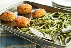 Mini Turkey Meatloaf and Maple Green Beans Sheet-Pan Dinner | Whole Foods Market