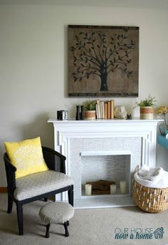 Our house, now a home: 30 day flip, secondhand fireplace redo