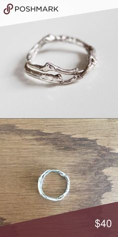 Sterling silver branch ring- Stackable https://kajsjewelry.com/collections/rings/products/thin-branch-ring?variant=5874835076 KAJS Jewelry Jewelry Rings