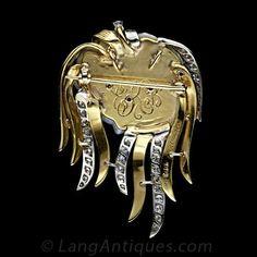 Ruser Freshwater Pearl, Diamond 'Jellyfish' Pin / Pendant Necklace