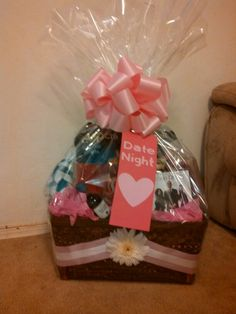 Date night gift basket