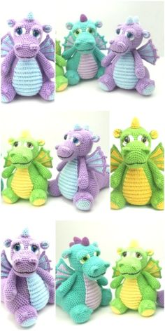 Free and Easy and Awesome Amigurumi crochet Pattern ideas for This Year Part 2 ; amigurumi for beginners; amigurumi for beginners; Crochet Dragon Pattern, Crochet Amigurumi Free Patterns, Crochet Animal Patterns, Stuffed Animal Patterns, Crochet Animals, Crochet Animal Amigurumi, Crochet Dolls Free Patterns, Knitting Patterns Free, Crochet Stitches