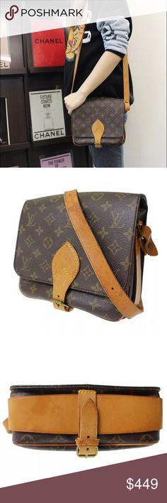 "Louis Vuitton cartouchiere MM crossbody handbag Great vintage condition!! Authentic or moneyback!! 9x9"" dimensions Louis Vuitton Bags Crossbody Bags"