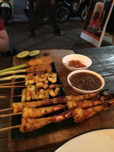 Mix seafood satay