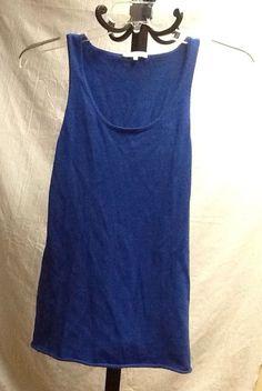 Minnie Rose Blue Cotton Tank Size Small Sleeveless Top Layering Stretch  #MinnieRose #TankCami #Casual