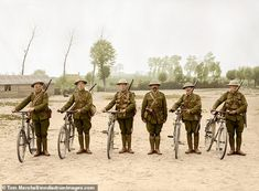Grim reality of is brought to life in 100 colourised images to mark centenary Ww1 Soldiers, Wwi, World War One, First World, Ww1 Battles, British Soldier, Black Watches, Bring It On, Military