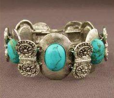 turquoise and silver bracelet  #Fashionable #bracelet