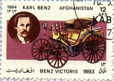 Benz Victoris 1893 by Karl Benz . Afghanistan Post stamp 1984