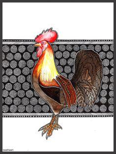 Rooster by eamanee.deviantart.com on @DeviantArt