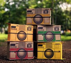 flutter in pinhole...cardboard pinhole cameras that fold back out into postcards to mail to your most favorite person in the universe!