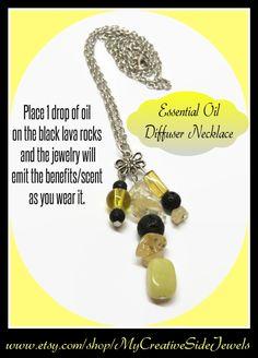 Essential oil diffuser necklace.  Great gift idea.  SHOP: https://www.etsy.com/shop/MyCreativeSideJewels