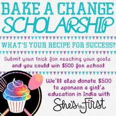 I wish I could have baked a scholarship for college, so cool.