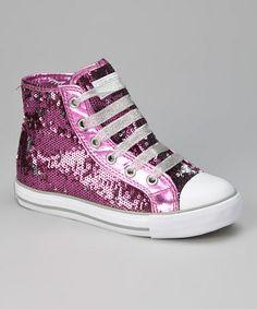 Look at this #zulilyfind! Purple & Silver Midway Hi-Top Sneaker by Gotta Flurt #zulilyfinds