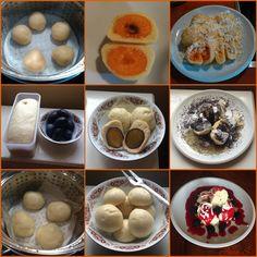 Kynuté ovocné knedlíky z pšeničného kvasu