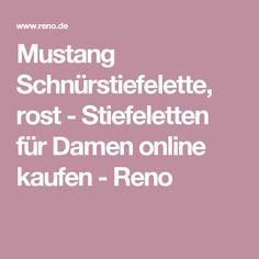 Mustang Schnürstiefelette, rost - Stiefeletten für Damen online kaufen - Reno