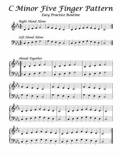 C Minor – Five Finger Pattern – Easy Practice Routine