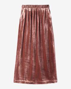 Women's Silk Velvet Skirt