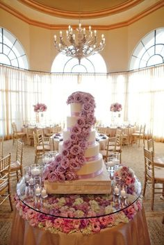 Flower cascade and table