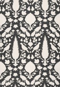 Chenonceau in Charcoal, Fabric SKU - 173563. www.fschumacher.c... #Schumacher