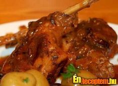 Rabbit is lean and tasty and should be something you incorporate more into your diet. Here is a simple rabbit recipe for you to try. Food Articles, Chicken Wings, New Recipes, Cooking Tips, Food To Make, Meal Planning, Rabbit, Easy Meals, Pork