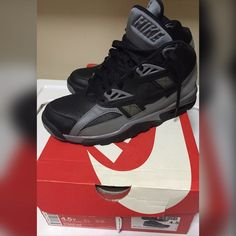 a115bbfaafb9 Nike air trainers Bo Jacksons blackout n grey size in youth and in women  original box Nike Shoes Sneakers