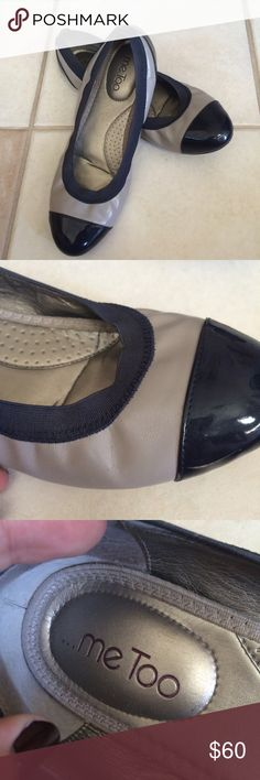 Me Too leather flats Super cute and comfortable flats by Me Too! Has same scratches on the heels but other than that they're in perfect condition!     ❤️❤️ALL OFFERS ARE CONSIDERED! ❤️❤️LEAVE A COMMENT IF YOU HAVE QUESTIONS!  ❤️❤️NO TRADES me too Shoes Flats & Loafers