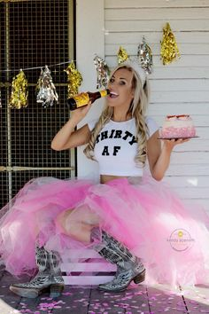 Best photographer ever Kendy Azernath in AustinTX. Pink tutu with boots beer & cake. Yes to be exact Shiner a Texas beer. Turning thirty isnt as bad as it seems. 30th Party, Adult Birthday Party, Birthday Cake Smash, 30th Birthday Parties, Girl Birthday, Happy Birthday, 30 Bday Ideas, Birthday Ideas, Adult Cake Smash