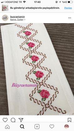 Alıntı Cross Stitch Embroidery, Pattern, Model, Cross Stitch Rose, Cross Stitch Flowers, Toddler Girls, Craft, Powder Room, Towels