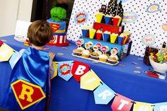 Super Rowan's 4th Birthday Bash | CatchMyParty.com