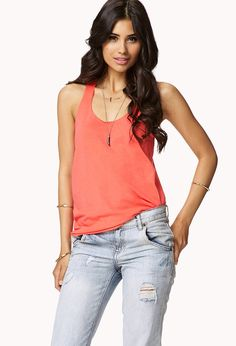 Relaxed Fit Racerback Tank   FOREVER21 - 5.80