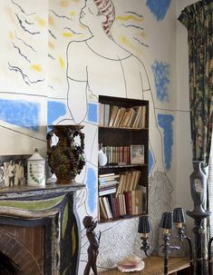 Villa Santo Sospir, tattooed by Cocteau – Interior Design Trends Interior Exterior, Home Interior, Interior Architecture, Interior Decorating, Decoration Chic, Decoration Inspiration, Interior Inspiration, New Blue, Dining Room Chairs