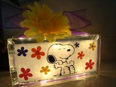 Hey, I found this really awesome Etsy listing at https://www.etsy.com/listing/153610111/snoopy-glass-block-night-light-customize