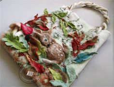 """Handtasche - Tasche gefilzt """"Wald zur Hand III"""" - ein Designerstück von SweetDecor bei DaWanda"""