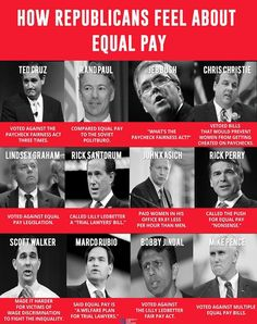 Lesser pay is just another way republicans work to keep women under control.